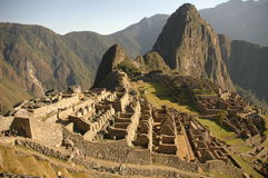 Machu Picchu Panoramic View Stock Photos