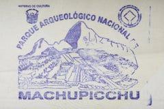 Machu Picchu parka znaczek obraz royalty free