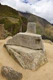Machu Picchu - pedra de Intihuatana - Peru Imagem de Stock Royalty Free