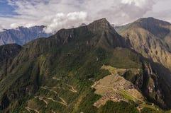 Machu Picchu Perù, picchu di huayna Fotografia Stock Libera da Diritti