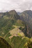 Machu Picchu Perù, picchu di huayna Immagine Stock Libera da Diritti