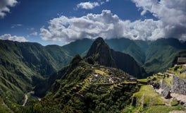 Machu Picchu Perù - vista panoramica su una montagna Fotografie Stock