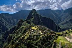 Machu Picchu Perù - vista panoramica su una montagna Immagini Stock