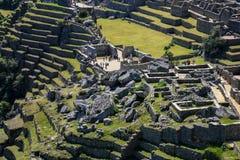 Machu Picchu Perù - vista panoramica su una montagna Fotografia Stock