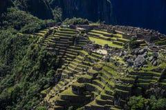 Machu Picchu Perù - vista panoramica su una montagna Fotografia Stock Libera da Diritti
