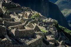 Machu Picchu Perù - vista panoramica su una montagna Immagine Stock