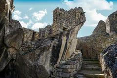 Machu Picchu Perù - vista panoramica su una montagna Fotografie Stock Libere da Diritti