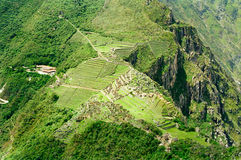 Machu Picchu, Peru. Machu Picchu as seen from the summit of Huayna Picchu, Peru stock images