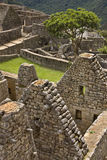 Machu Picchu in Peru. A part of the Inca city of Machu Picchu in Peru Royalty Free Stock Images