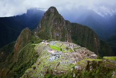 Machu Picchu in Peru Stock Images