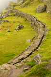 Aqueduct at Machu Picchu, Peru Stock Photography