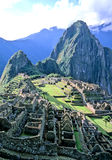 Machu Picchu- Peru. Incan ruins of Machu Picchu w/ Huayna Picchu mountain in background- Sacred Valley, Peru Stock Image