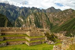 Machu Picchu, Peru. The ancient Inca city, located on Peru at the mountain, New Wonder of the World. Machu Picchu, Peru. The ancient Inca city, located on Peru royalty free stock photography