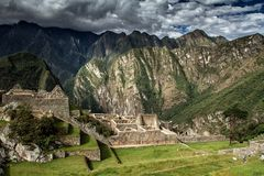 Machu Picchu, Peru. The ancient Inca city, located on Peru at the mountain, Wonder of the World. Machu Picchu, Peru. The ancient Inca city, located on Peru at royalty free stock images