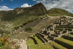 Machu Picchu, Peru. The ancient Inca city, located on Peru at the mountain, Wonder of the World. Machu Picchu, Peru. The ancient Inca city, located on Peru at royalty free stock photography
