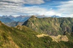 Machu Picchu, Peru. The ancient Inca city, located on Peru at the mountain, New Wonder of the World. View of the Lost Incan City of Machu Picchu near Cusco, Peru royalty free stock image