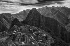 Machu Picchu, Peru. The ancient Inca city, located on Peru at the mountain, New Wonder of the World. View of the Lost Incan City of Machu Picchu near Cusco, Peru royalty free stock images