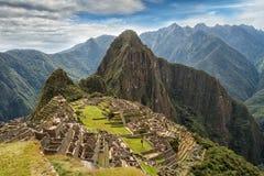 Machu Picchu, Peru. The ancient Inca city, located on Peru at the mountain, New Wonder of the World. View of the Lost Incan City of Machu Picchu near Cusco, Peru stock photo