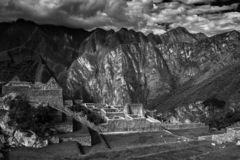 Machu Picchu, Peru. The ancient Inca city, located on Peru at the mountain, New Wonder of the World. Machu Picchu, Peru. The ancient Inca city, located on Peru royalty free stock photos
