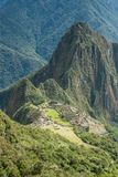Machu Picchu, Peru. The ancient Inca city, located on Peru at the mountain, New Wonder of the World. View of the Lost Incan City of Machu Picchu near Cusco, Peru royalty free stock photography