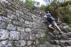 MACHU PICCHU, PERU, AUGUST 12: Thousands of tourists visit daily Stock Images