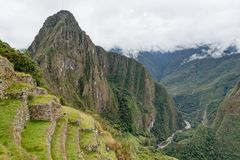 Machu Picchu in Peru Custo South America Royalty-vrije Stock Afbeeldingen