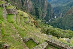 Machu Picchu in Peru Custo South America Stock Foto