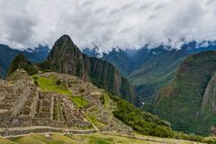 Machu Picchu in Peru Custo South America Stock Foto's