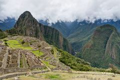 Machu Picchu in Peru Custo South America Royalty-vrije Stock Foto