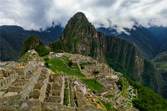 Machu Picchu in Peru Custo South America Royalty-vrije Stock Foto's