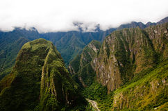 Machu Picchu, Peru. Inca city of Macu Picchu in Peru Royalty Free Stock Images