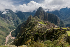 Machu Picchu Peru. The Inca city ruins, Machu Picchu, Peru Stock Photos