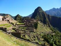 Machu Picchu Peru Inca fördärvar världen mirakel- Sydamerika arkivbilder