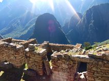 Machu Picchu Peru Inca ruins World wonder southamerica. Machu Picchu Peru Inca ruins World wonder travel southamerica Stock Photography