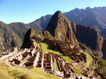 Machu Picchu Peru Inca ruins World wonder southamerica. Machu Picchu Peru Inca ruins World wonder travel southamerica Stock Photography