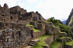 Machu Picchu - Peru. Inca Stone Bricks Construction - Machu Picchu - Peru royalty free stock photography