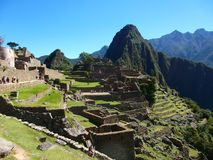 Machu Picchu Peru inka ruin Światowy cud Southamerica Zdjęcia Royalty Free