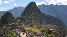 Machu Picchu, Peru July 27. 2019: View over the ruins