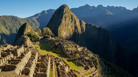 Machu Picchu in Peru. Is probaby one of the most impressive Inca Sites on our planet. Check it out stock image