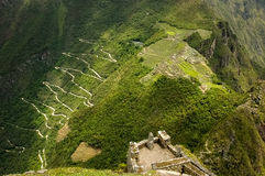 Machu Picchu. In Peru, near the city of Cusco, view from Huayna Picchu Royalty Free Stock Images