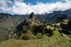 Machu Picchu Peru, panoramatic sikt Arkivfoton