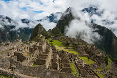 Machu Picchu, Peru. Machu Picchu, a Peruvian Historical Sanctuary and a UNESCO World Heritage Site of Peru Royalty Free Stock Photos