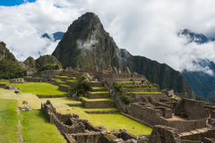 Machu Picchu, Peru. Machu Picchu, a Peruvian Historical Sanctuary and a UNESCO World Heritage Site of Peru Royalty Free Stock Photo