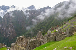Machu Picchu in Peru. This photo is taken in Machu Pichu Heritage in Peru. Machu Picchu stands 2,430 m above sea-level, in the middle of a tropical mountain Royalty Free Stock Photography