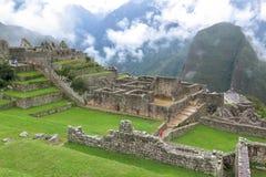 Machu Picchu in Peru. This photo is taken in Machu Pichu Heritage in Peru. Machu Picchu stands 2,430 m above sea-level, in the middle of a tropical mountain Stock Photos