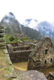 Machu Picchu in Peru. This photo is taken in Machu Pichu Heritage in Peru. Machu Picchu stands 2,430 m above sea-level, in the middle of a tropical mountain Stock Images