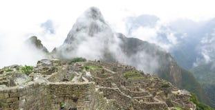 Machu Picchu in Peru. This photo is taken in Machu Pichu Heritage in Peru. Machu Picchu stands 2,430 m above sea-level, in the middle of a tropical mountain Royalty Free Stock Photo