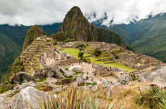 Machu Picchu (Peru, South America), a UNESCO World Heritage. Site royalty free stock images