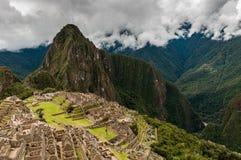 Machu Picchu (Peru, South America), a UNESCO World Heritage. Site royalty free stock image