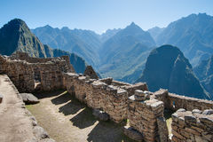 Machu Picchu - Peru. Stone walls, very well preserved Royalty Free Stock Photo